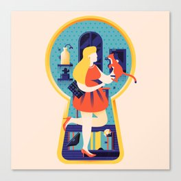 Peekture - Secret Slob Canvas Print