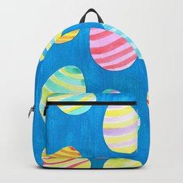 Easter Egg Watercolor Pattern -  Blue Backpack