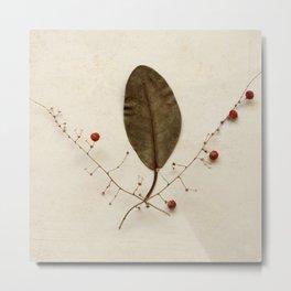 Natural Symbos - Leaf and Twigs Metal Print