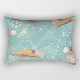 Seamless Pattern with brown owls  Rectangular Pillow