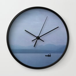 Sunrise on Lake Leman Wall Clock