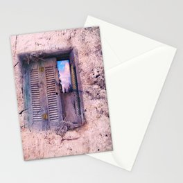 SOUL WINDOW - conceptual composing with old wall and open window Stationery Cards