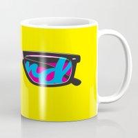 nerd Mugs featuring Nerd by Aaron Synaptyx Fimister