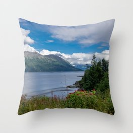 On The Road To Hope, Alaska Throw Pillow