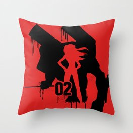Asuka (Eva Unit-02) Throw Pillow