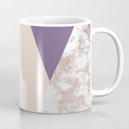 Geometrical faux rose gold pastel colors colorblock Coffee Mug
