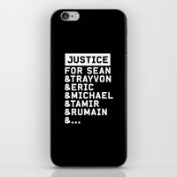 justice iPhone & iPod Skins featuring Justice by YEAH PRETTY MUCH