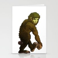 bigfoot Stationery Cards featuring Bigfoot by JoJo Seames