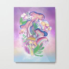 Mushroom Galaxy Metal Print