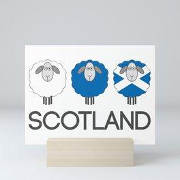 Trio of Scottish Patterned Sheep Mini Art Print