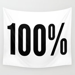 100% (One Hundred Percent) Wall Tapestry