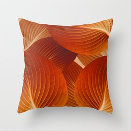 Leaves in Terracotta Color #decor #society6 #buyart Throw Pillow