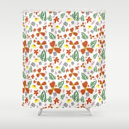 Fine Floral Foliage Shower Curtain