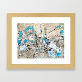 A Touch of Blue Framed Art Print
