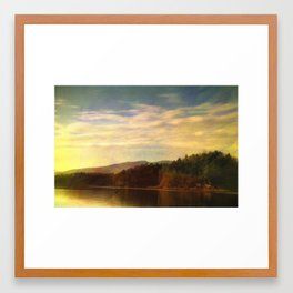 Evening On The Lake Framed Art Print