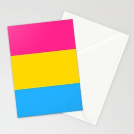 Pan Flag Stationery Cards