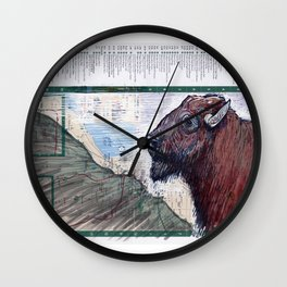 BUFFALO, NEW YORK Wall Clock
