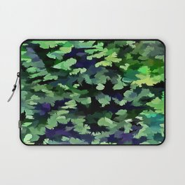 Foliage Abstract Camouflage In Forest Green and Black Laptop Sleeve