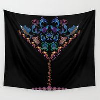 martini Wall Tapestries featuring Marine Martini by artsytoocreations