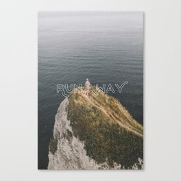 Run Away - Typography on Photography Print Canvas Print
