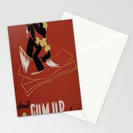 Vintage Illustrative Poster Stationery Cards