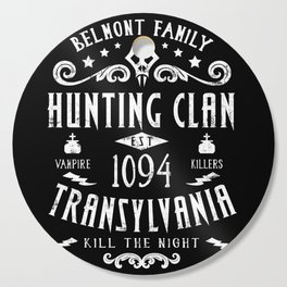 Geeky Gamer Chic Castlevania Inspired Belmont Family Hunting Clan Cutting Board