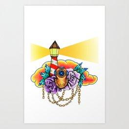 Nautical Light. Art Print