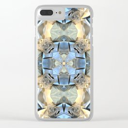 Reflections of Blue And Gold Clear iPhone Case