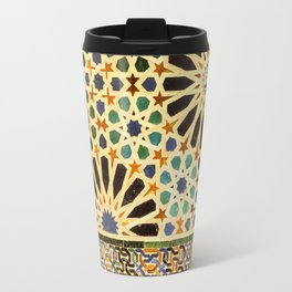 """""""Mexuar room"""". Details in The Alhambra Palace.  Travel Mug"""