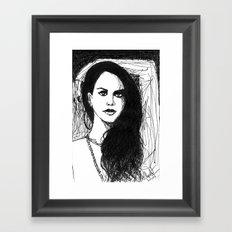 portrait of Lana Framed Art Print