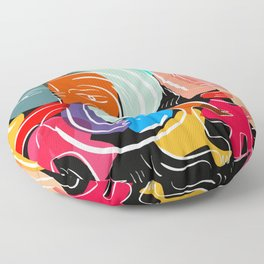 Love your family expressionist cubist street art Floor Pillow