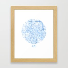 Rome. Blue Period Framed Art Print
