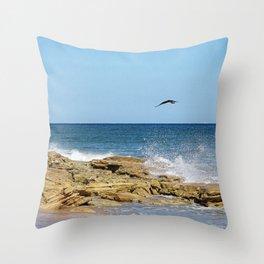 Opulent shoreline Throw Pillow