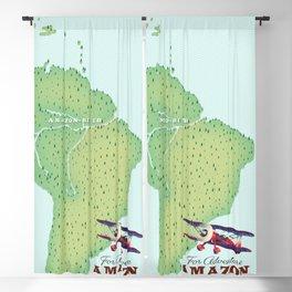 For Adventure Amazon rainforest Brazil map Blackout Curtain