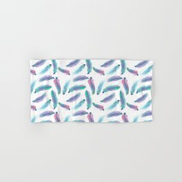 Watercolor Feathers Hand & Bath Towel