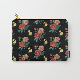 Moody Vintage Floral Carry-All Pouch