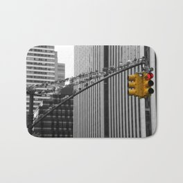 Pigeons in Manhattan Bath Mat