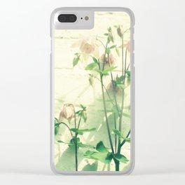 Pink petals Clear iPhone Case