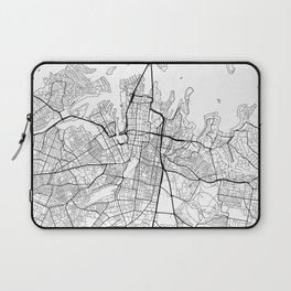 Sydney Map White Laptop Sleeve