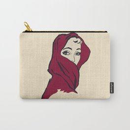 The woman with the red veil Carry-All Pouch
