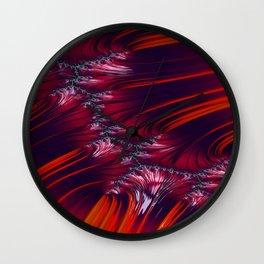 Bonding Ice on Frozen Lake Fractal 2 - abstract art Wall Clock