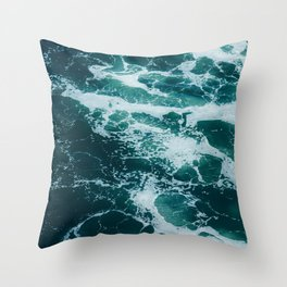 The Water Waves (Color) Throw Pillow