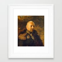 replaceface Framed Art Prints featuring Bruce Willis - replaceface by replaceface
