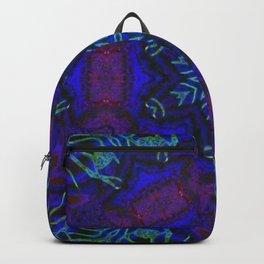 Bioluminescent Tribal Lotus Backpack