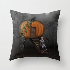 Halloween! Where is the rabbit? Throw Pillow