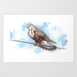 Windy Day in Skagit Valley Art Print