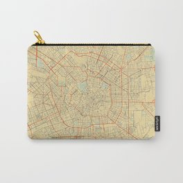 Milan Map Retro Carry-All Pouch