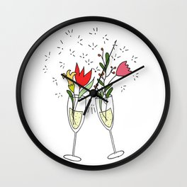 Celebrating spring! Wall Clock
