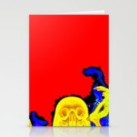 hell Stationery Cards featuring Hell by Alec Goss