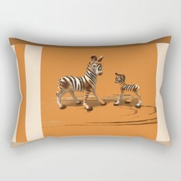 Butterscotch Stripes Rectangular Pillow